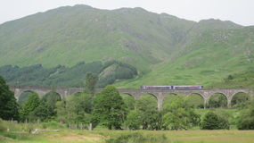 Glenfinnan Viaduct With Train Royalty Free Stock Photography