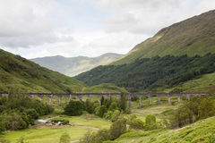 Glenfinnan Viaduct. A view of Glenfinnan Viaduct on the West Highland Line in Scotland between Fort William and Mallaig.  The railway viaduct has featured in Royalty Free Stock Images