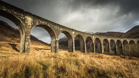 Glenfinnan viadukt, Januari 2015 Royaltyfri Fotografi