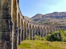 Glenfinnan viaduktbågar arkivfoton