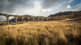 Glenfinnanviaduct, Januari 2015 Royalty-vrije Stock Foto's