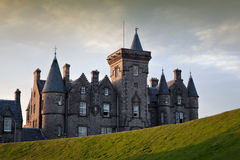 Glengorm Castle, Mull, Scotland. Glengorm Castle, also known as Castle Sorn, is a 19th-century country house on the Isle of Mull, Scotland stock image