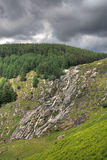 Glenmaonass Waterfall. In Wicklow Mountains, Ireland royalty free stock image