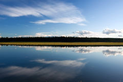 Glenmore Reservoir. The Glenmore Reservoir is a large manmade reservoir on the Elbow River in the southwest quadrant of Calgary, Alberta Royalty Free Stock Image