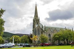 Glenmuick Parish Church. Ballater, Aberdeenshire, Scotland. stock image