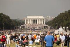 Glenn Beck Rally at Lincoln Memorial, DC Royalty Free Stock Photos