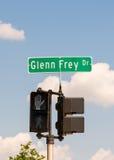 Glenn Frey Drive street sign, MI Royalty Free Stock Photography