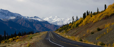 Glenn Highway in Fall Royalty Free Stock Images
