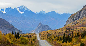 Lions Head and the Chugach Mountains along the Glenn Highway in fall Stock Photos
