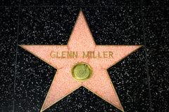 Glenn Miller gwiazda na Hollywood spacerze sława zdjęcia stock