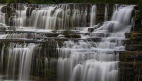 Glenn Park Falls in Buffels, New York Royalty-vrije Stock Foto
