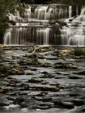 Glenn Park Falls i buffeln, NY Arkivbild