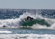 Glenn Salão - praia viril aberta do Australian fotografia de stock royalty free