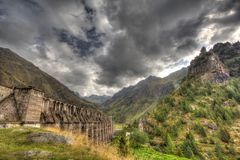 Gleno dam,Italy Stock Photography