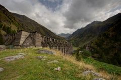Gleno dam,Italy Royalty Free Stock Photography