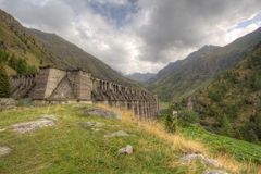 Gleno dam,Italy Stock Photo