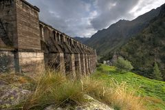 Gleno dam,Italy Royalty Free Stock Images
