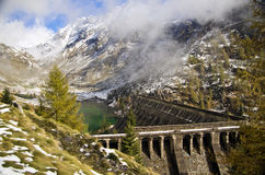 Gleno Dam, Scalve Valley, Italy Stock Photos