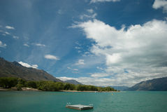 Glenorchy Bay Port, Queenstown, South Island, New Zealand. Scenic view of Lake Wakatipu, Glenorchy Queenstown Road Royalty Free Stock Images