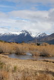Glenorchy lagoon and mountains. In New Zealand Royalty Free Stock Photos