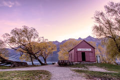 Glenorchy in magenta tone Royalty Free Stock Photography