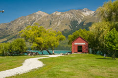 Glenorchy, New Zealand. By the Lake Wakatipu, Glenorchy, New Zealand stock photo