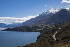 Glenorchy scenic road Royalty Free Stock Images