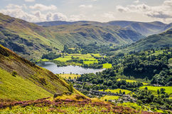 Glenridding and part of Ullswater Stock Image