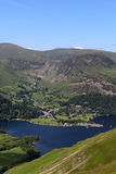 Glenridding and Ullswater from Place Fell, Cumbria Stock Image