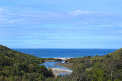 Glenrock reserve. View in Glenrock reserve near Newcastle, Australia stock images