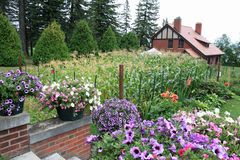 Glensheen Congdon Mansion gardens. In Duluth Minnesota Stock Image