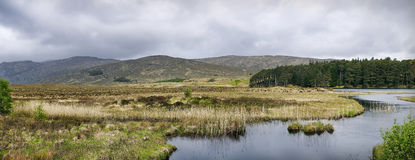 Glenveagh lake. County Dionegal. Glenveagh (from Irish Gleann Bheatha, meaning glen of the birches) is the second largest national park in Ireland stock images