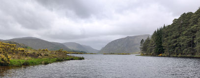 Glenveagh lake. Glenveagh (from Irish Gleann Bheatha, meaning glen of the birches) is the second largest national park in Ireland stock photo