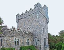 Glenveagh slott i Co Donegal Irland royaltyfria bilder