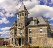 Glenview herrgård i Hudson River Museum Arkivbilder
