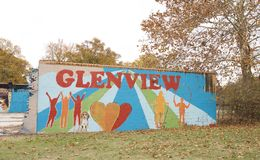 Glenview-Nachbarschafts-Malerei, Memphis, Tennessee Lizenzfreies Stockbild