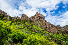 Glenwood Canyon in Colorado Royalty Free Stock Images