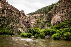 Glenwood Canyon in Colorado Royalty Free Stock Photos