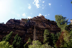 Glenwood Canyon Wall Royalty Free Stock Photography
