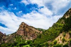 Glenwood kanjon i Colorado arkivfoton