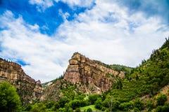 Glenwood kanjon i Colorado arkivbilder
