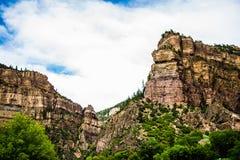 Glenwood kanjon i Colorado royaltyfri fotografi