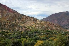 Glenwood Springs, Colorado. The City of Glenwood Springs is the most populous municipality of Garfield County, Colorado, United States. Glenwood Springs is best Royalty Free Stock Photography