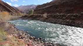 Glenwood Springs and Colorado River stock footage