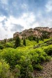 Glenwoodcanion in Colorado stock afbeelding