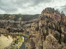 Glenwoodcanion - Colorado royalty-vrije stock afbeelding