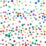 Glesa vattenfärgkonfettier på vit bakgrund Royaltyfria Foton