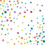 Glesa vattenfärgkonfettier på vit bakgrund Royaltyfri Bild