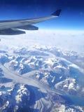 Gletscher über Grönland Stockbilder