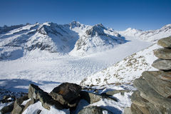 Gletscher Aletsch Stockfoto